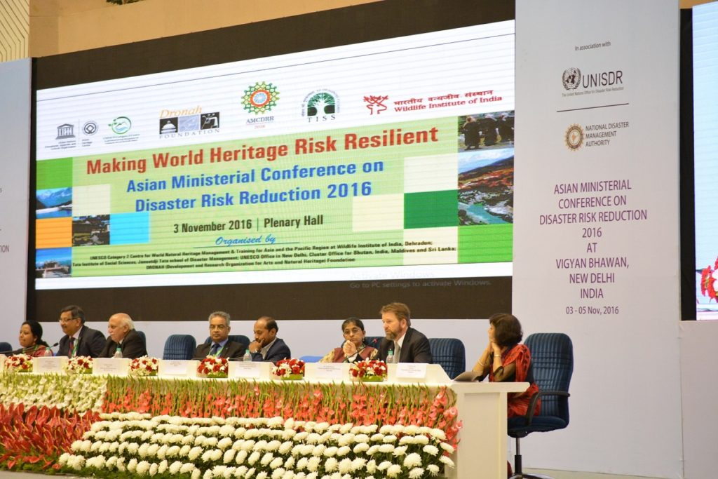 'Making World Heritage Risk Resilient', a thematic session at Asian Ministerial Conference on Disaster Risk Reduction