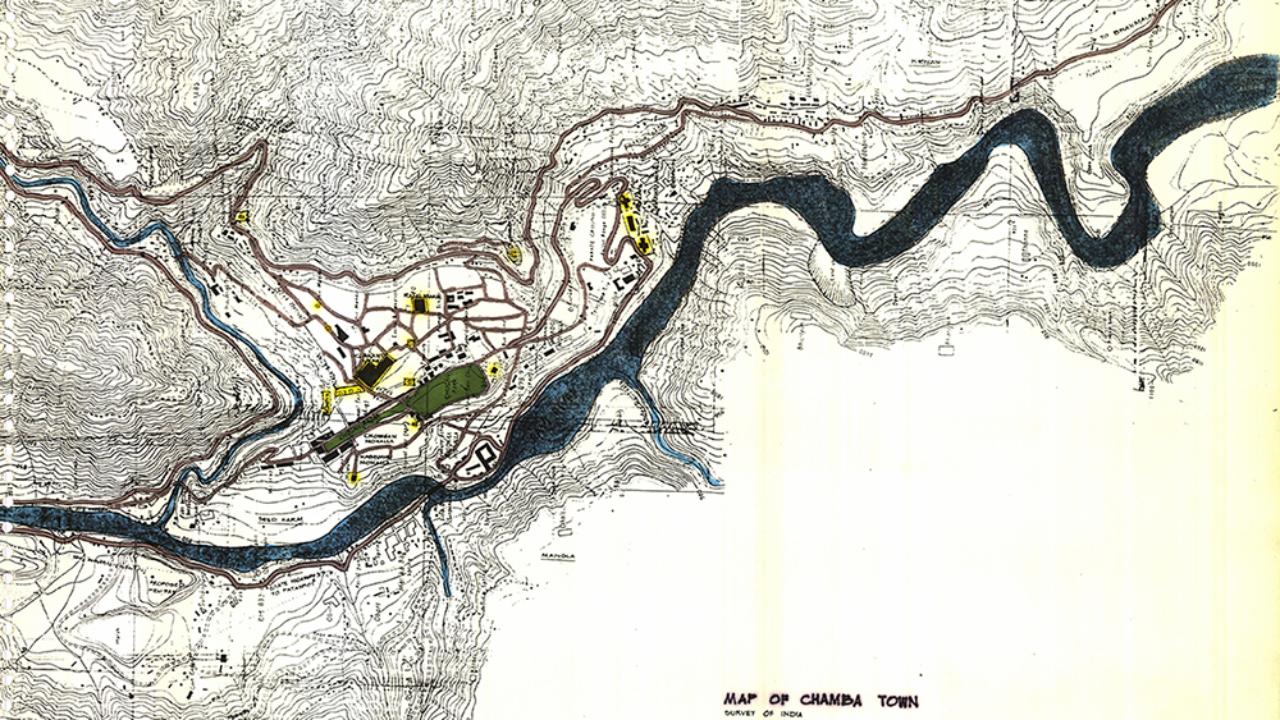 Map of Chamba Town