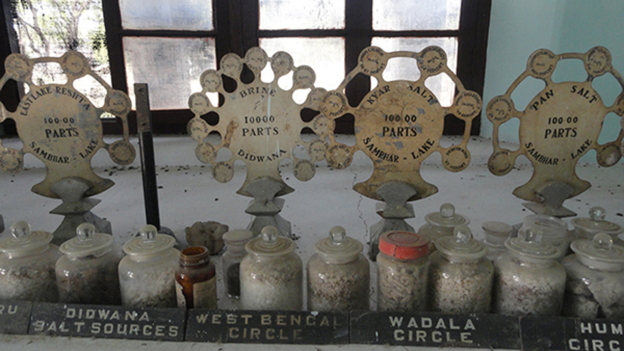 Salt samples exhibited