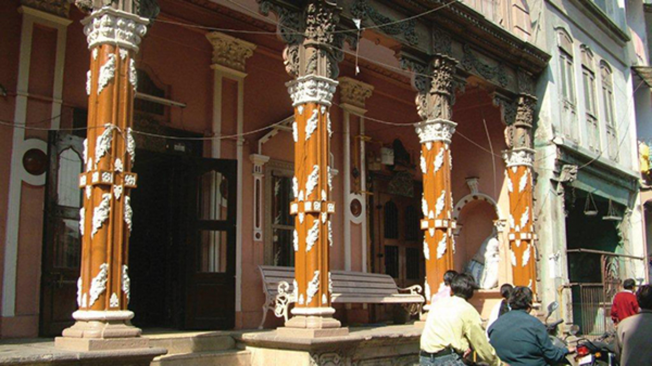Wooden Columns with floral design